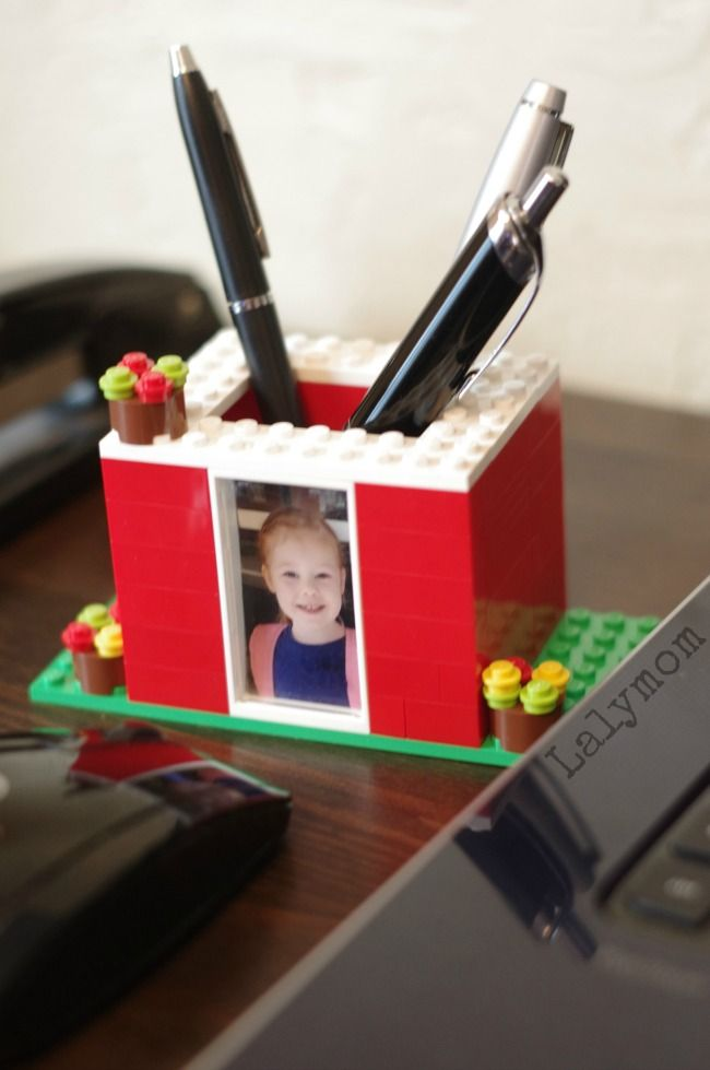 Rad Diy Pen Holder Kids Can Make With Lego Bloggers Fun
