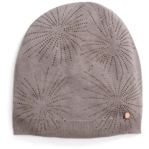 Women s Ted Baker London Stardust Embellished Knit Beanie ( 100) ❤ liked on  Polyvore featuring accessories 2194f198919