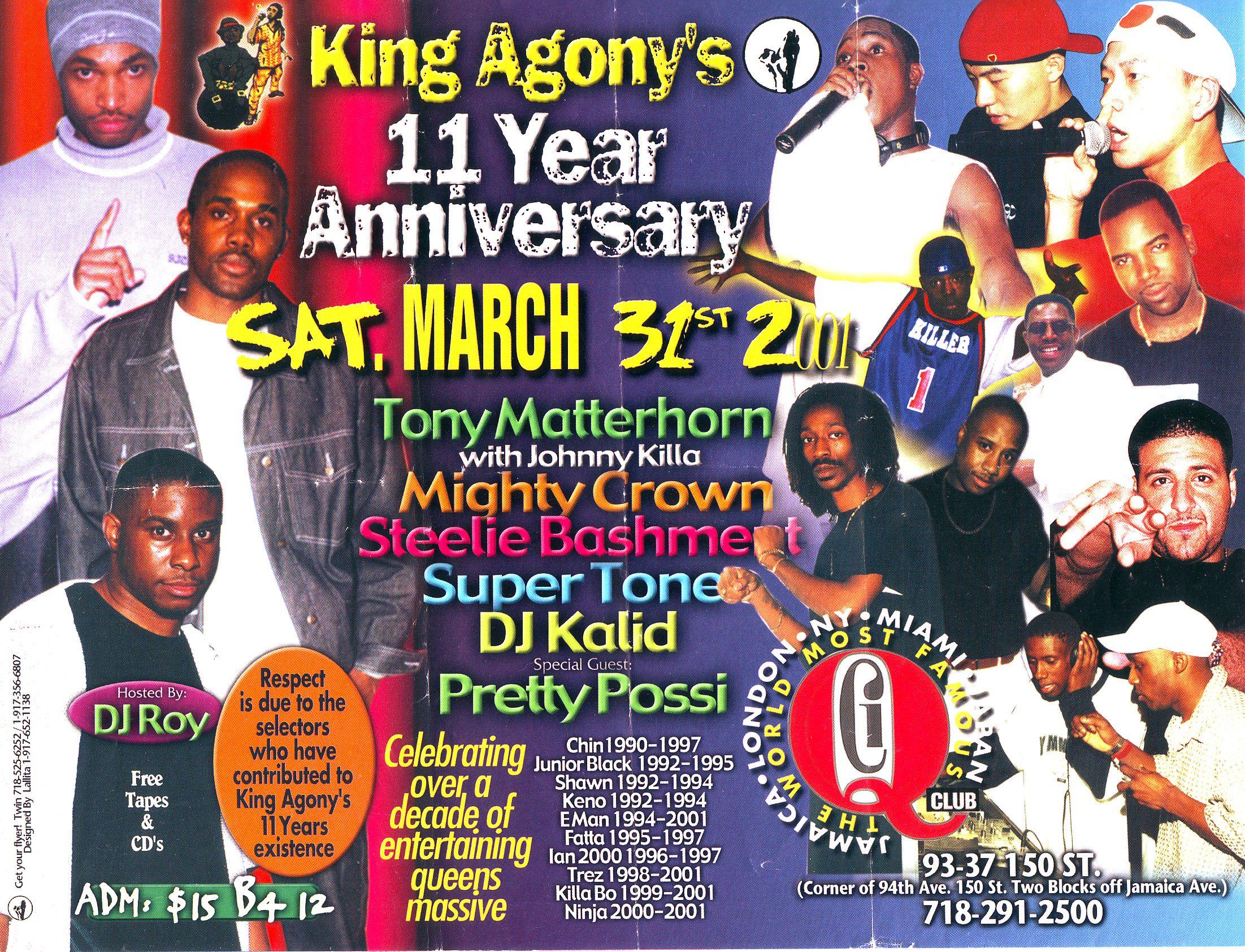 King Agony 11 Year Anniversary