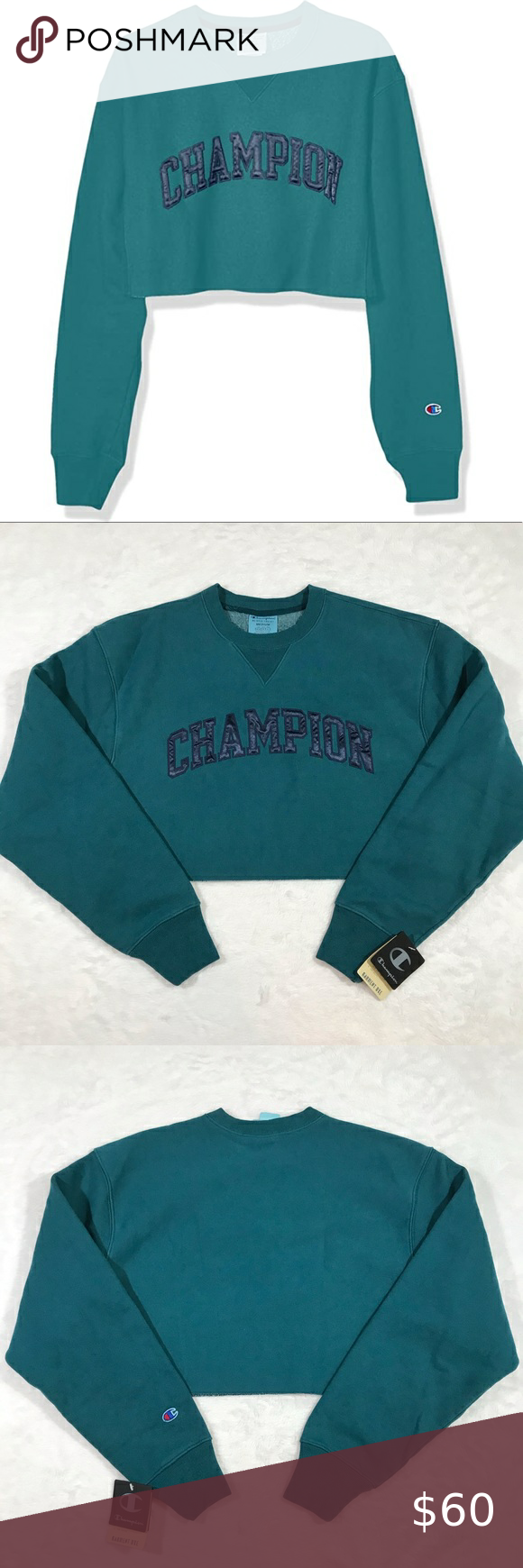 Urban Outfitters Champion Uo Reverse Weave Logo Pullover Sweatshirt Turquoise Champion Clothing Sweatshirts Pullover [ 1463 x 975 Pixel ]
