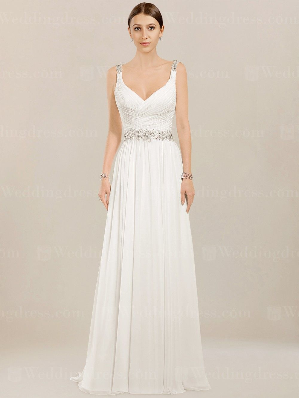 Chiffon Beach Wedding Dress BC952  c9909da6da