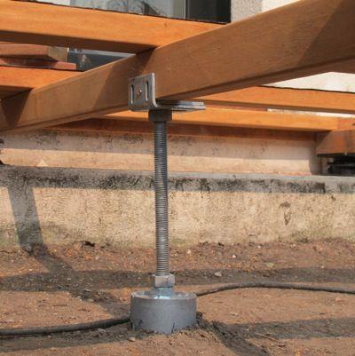 Plots Bton Terrasse En Bois  Utilisez Les Plots De Fondation