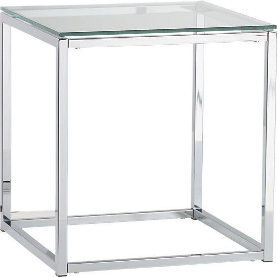 Smart Glass Top Side Table Glass Top Side Table Tables And Apartments - Cb2 glass top dining table
