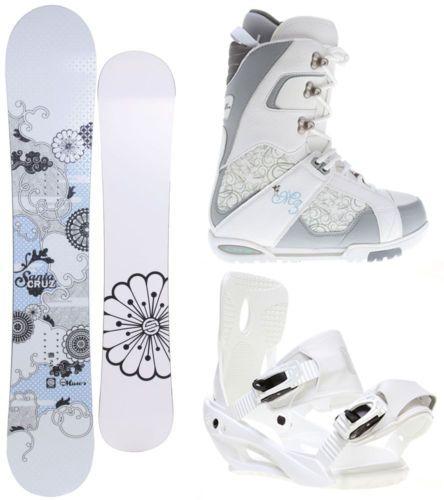 Santa Cruz Muse 154 Womens Snowboard + Sapient Zeta