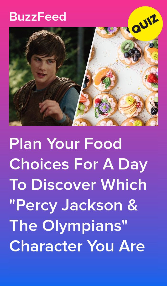 """Plan Your Food Choices For A Day To Discover Which """"Percy"""
