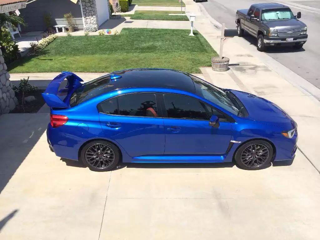 Wrb 2015 Subaru Wrx Sti With Black Vinyl Roof Wrap 2015 Subaru Wrx Subaru Wrx Subaru Wrx Sti