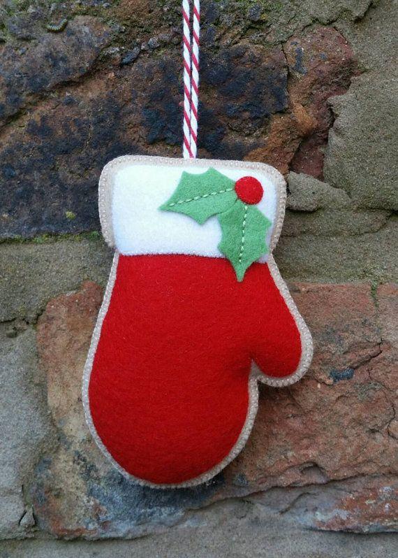 felt christmas mitten ornament by tillyshangout on etsy - Christmas Mittens