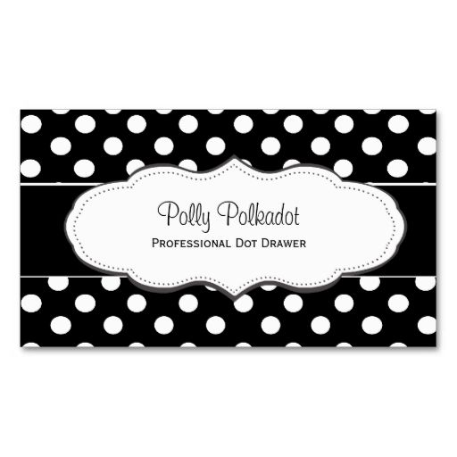 Black And White Polka Dot Business Cards Zazzle Com Red Business Cards Cards Zazzle Business Cards