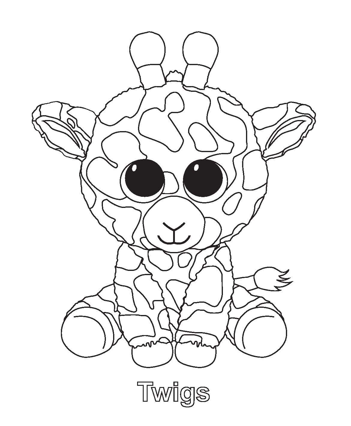 Beanie Boo coloring page is filled. Ty Art Gallery 7eebacb30904
