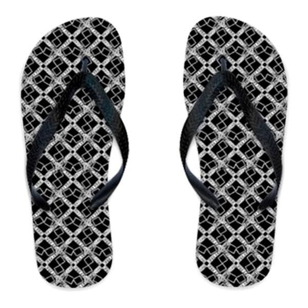 Suga Lane Black Silver Logissimo Flip Flop #shoes #flipflop #beachwear #sugalane #resort #black #silver