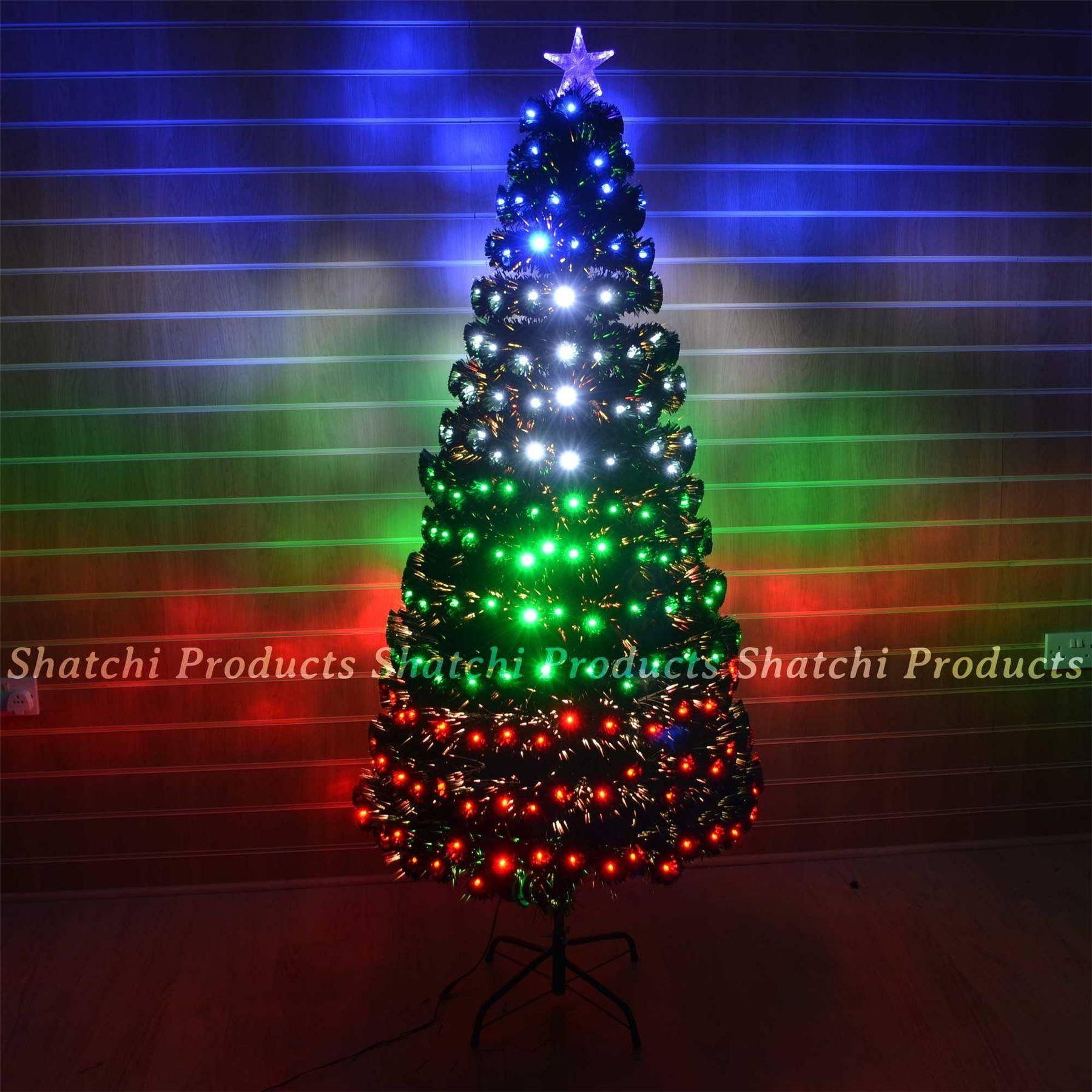 Multicoloured Led Fibre Optic Christmas Tree With Various Lighting Effects Size 5ft Also Availa Fiber Optic Christmas Tree Xmas Decorations Trees And Trends