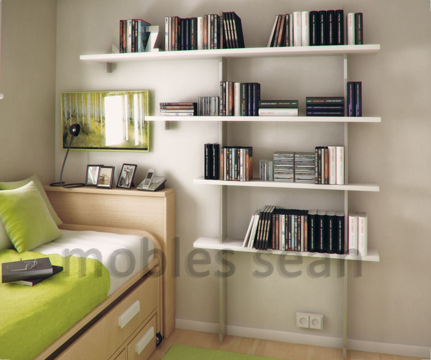 Kids Bedroom Shelving White Beech Exclusive Small Kids Bedroom With Storage Furniture
