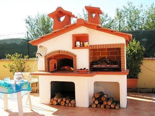 Cucine esterne da giardino in muratura forno a legna in - Barbecue in muratura da giardino ...