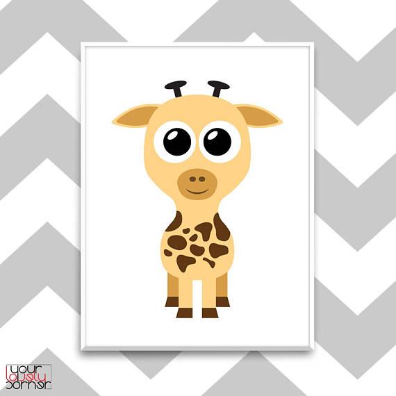 Giraffe nursery wall art Kids room print Nursery decor ...