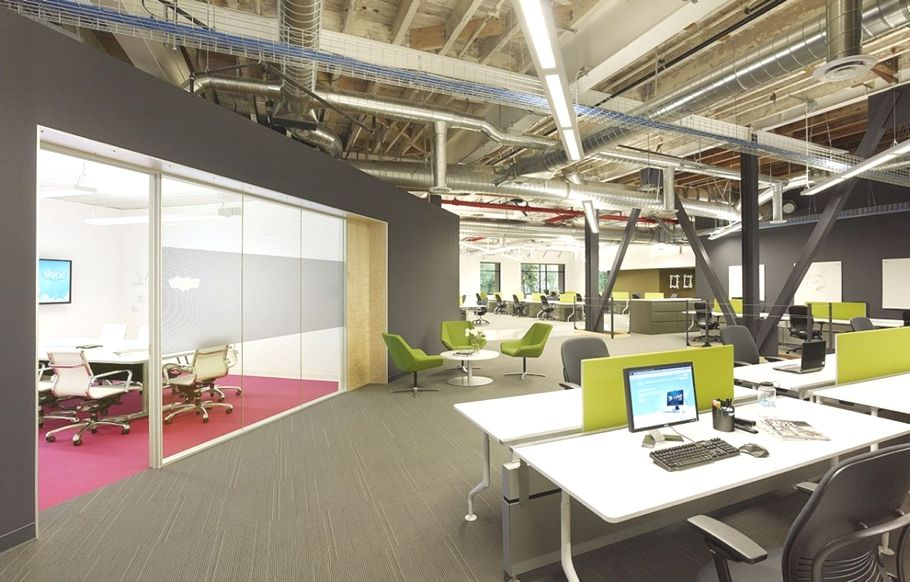 Creative workplace for Skype's North American HQ - http://www.adelto.co.uk/creative-workplace-for-skypes-north-american-hq
