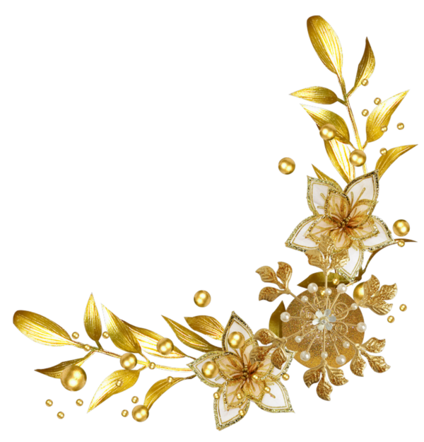 Transparent Background Png Image Gold Page Dividers Yahoo Search Results Image Search Results Flower Border Png Flower Border Overlays Transparent Background