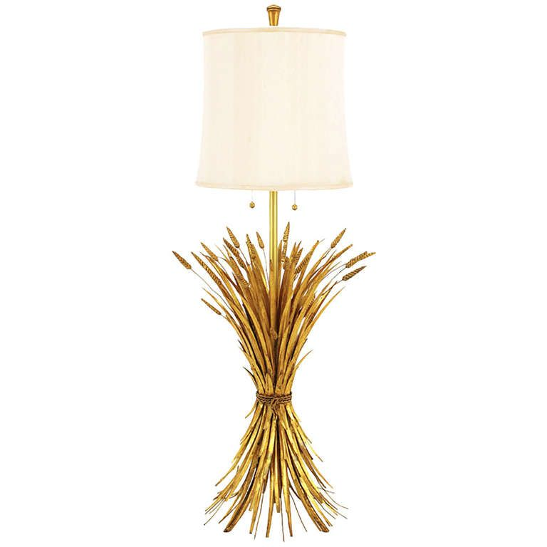 Rare Marbro Gilt Metal Sheaf Of Wheat Floor Lamp Floor Lamp Lamp Modern Floor Lamps