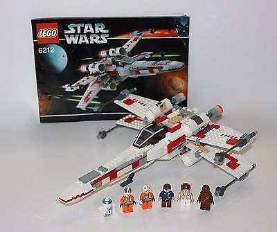 Lego Star Wars X Wing Fighter 6212 100 Complete Minifigs And