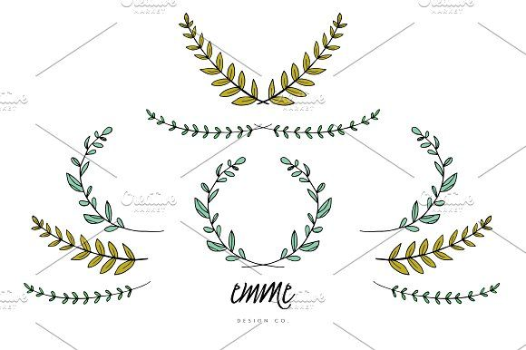 Hand drawn branches leaves vector hand drawn hand drawn branches leaves vector stopboris Images