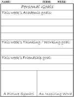 for students to set weekly goals