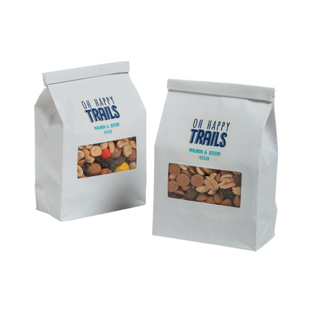 Personalized Trail Mix Treat Bags Black