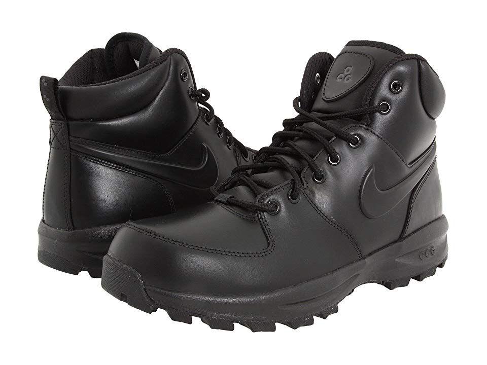 Nike Manoa Leather Men's Lace up Boots BlackBlackBlack