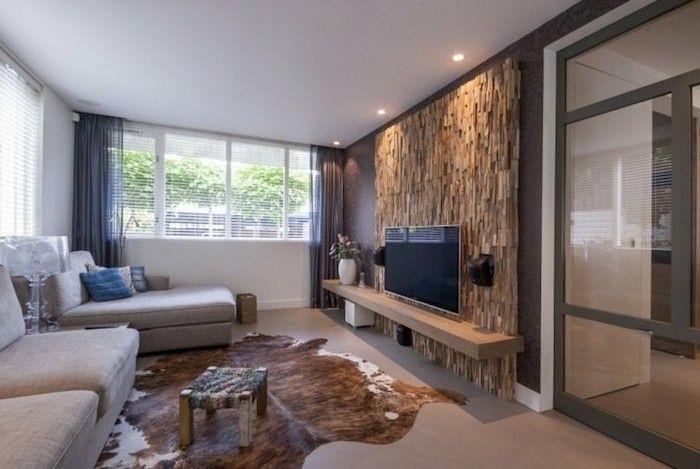 rustikale holzwaende akzentwand im wohnzimmer Wandgestaltung - wandgestaltung wohnzimmer rustikal
