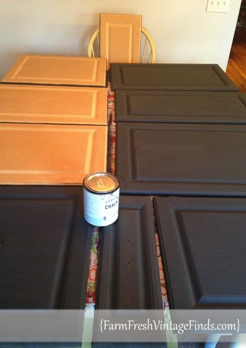 Kitchen Painted with Annie Sloan Chalk Paint® - Farm Fresh Vintage ...