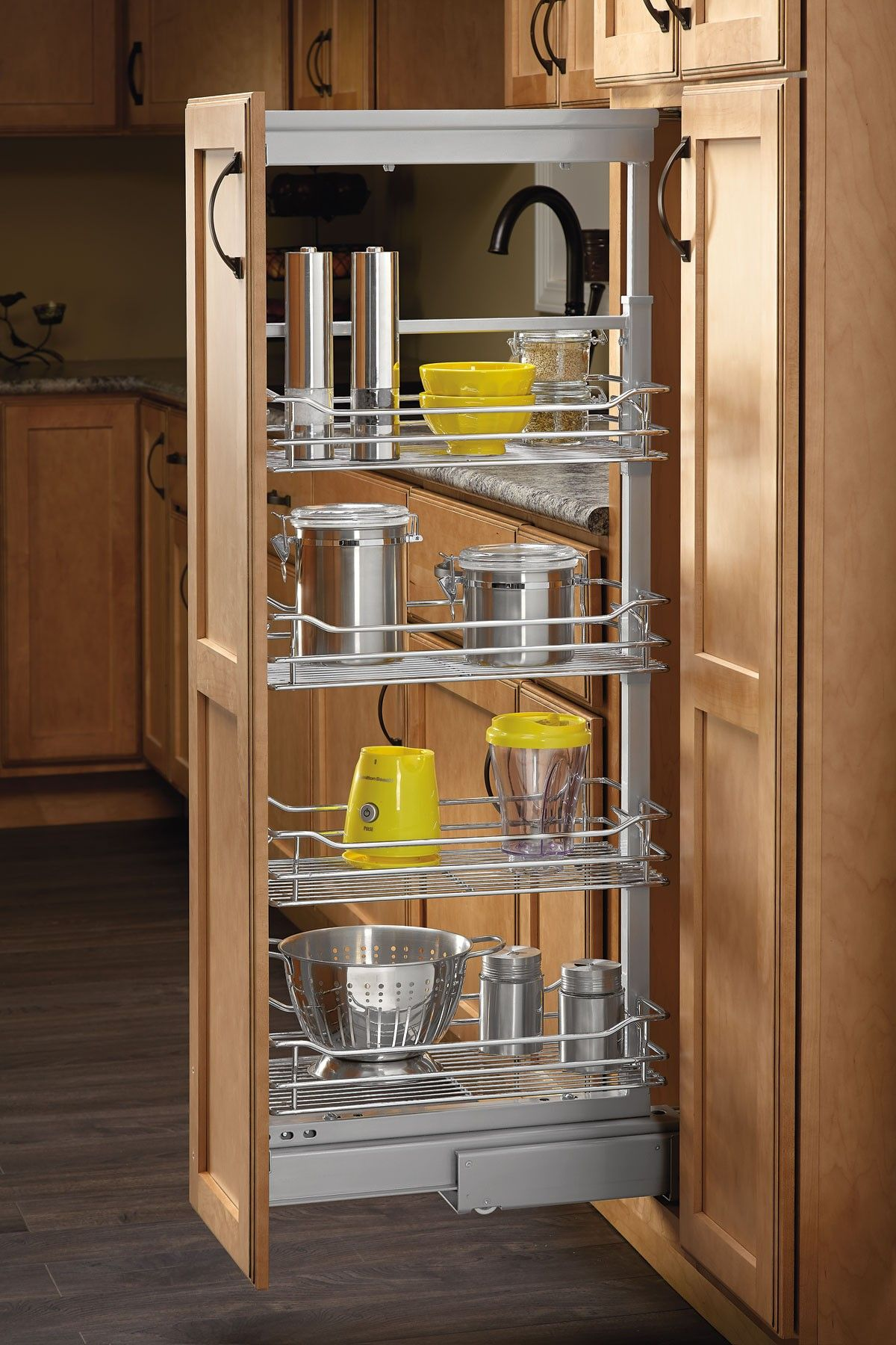 20 5 8 Pull Out Pantry Chrome With Images Rev A Shelf Pull Out Pantry Pantry Cabinet