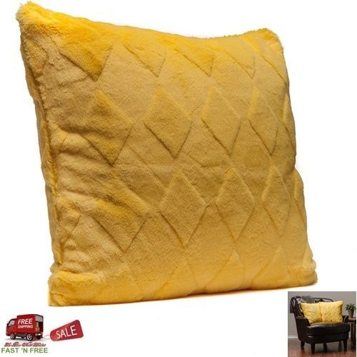 Small Sectional Sofa Cover Pillow Pillowcase Sham Yellow Throw Soft Embossed Comfy Sofa Decor Riveing PurchaseCorner Modern