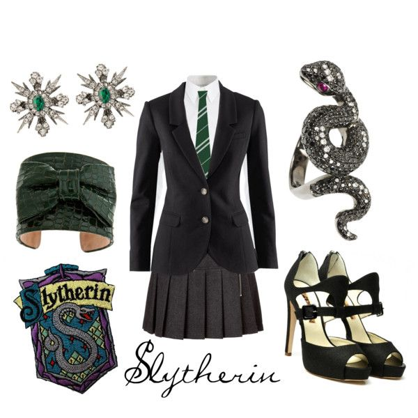 slytherin created by character inspired style on polyvore. Black Bedroom Furniture Sets. Home Design Ideas