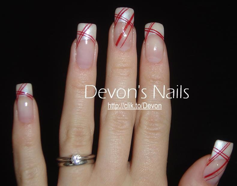 Airbrush Nail Designs candy cane | Nail Art Archive ...