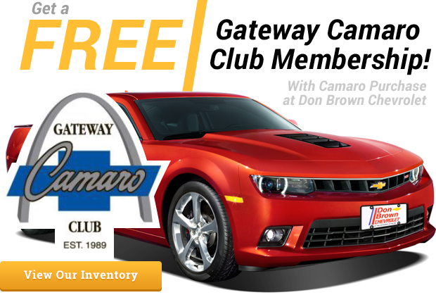Gateway Camaro Club Membership From Don Brown Chevrolet