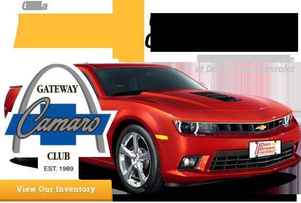 Gateway Camaro Club Membership From Don Brown Chevrolet Chevrolet Dealership Camaro Chevrolet