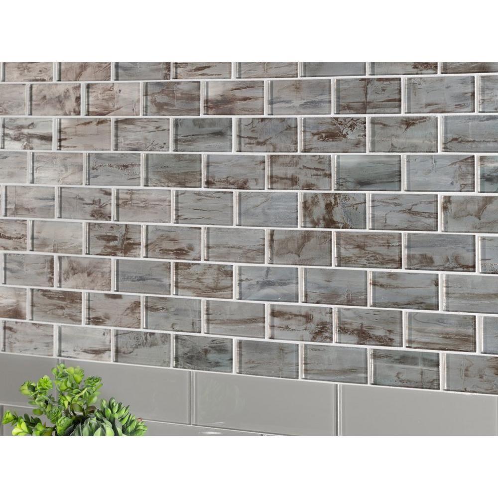 monroe brick glass mosaic floor