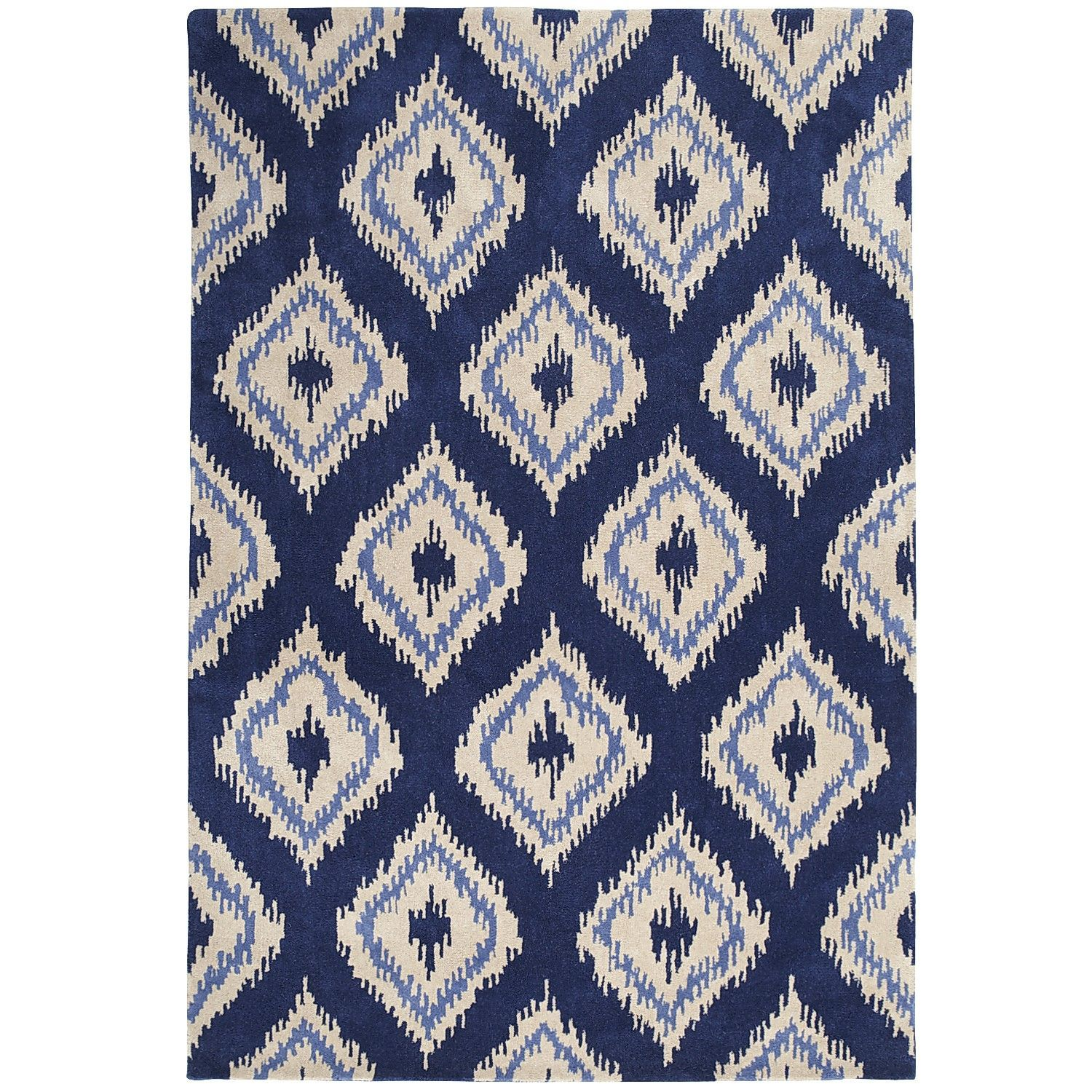 Ikat Diamond Rug 8x10 Navy Pier1 Us Navy Rug Grey
