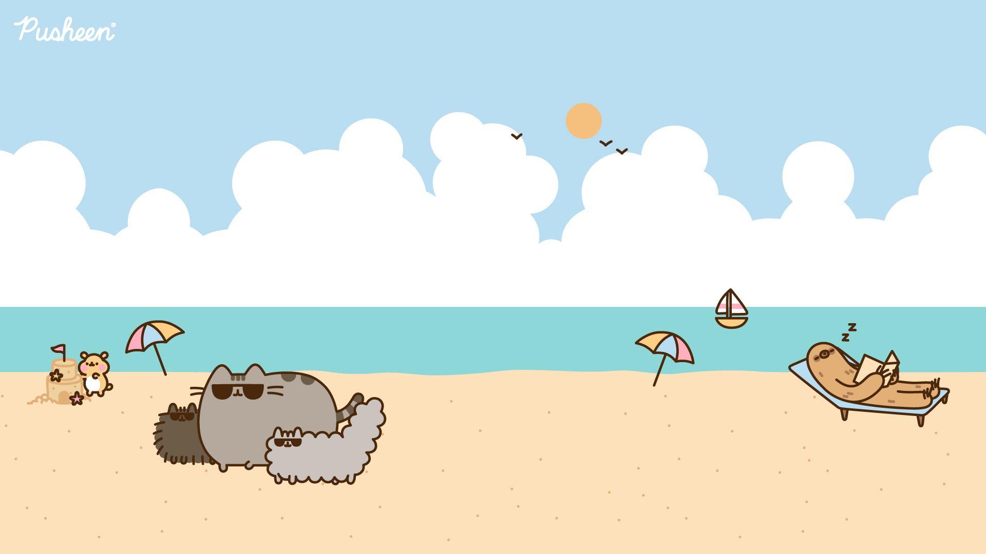 Pusheen Zoom Backgrounds Pusheen In 2021 Pusheen Cute Cute Desktop Wallpaper Pusheen