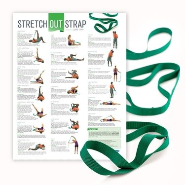 stretch out strap with poster  stretching exercises yoga