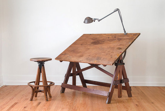 Restoration Hardware Drafting Table Vintage Drafting Table Wood
