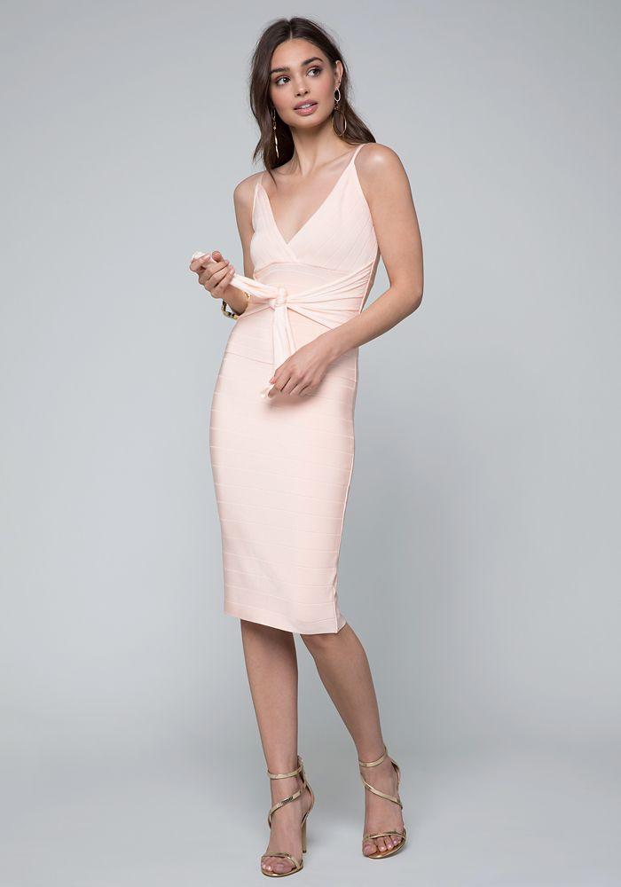 507899130af Bebe Women s Minerva Tie Bandage Dress