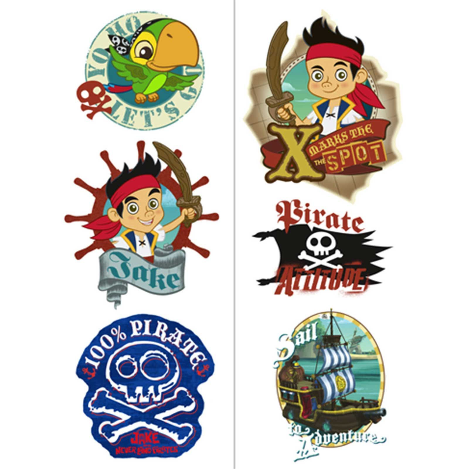 jake and the neverland pirates printables – Tattoo Party Invitations