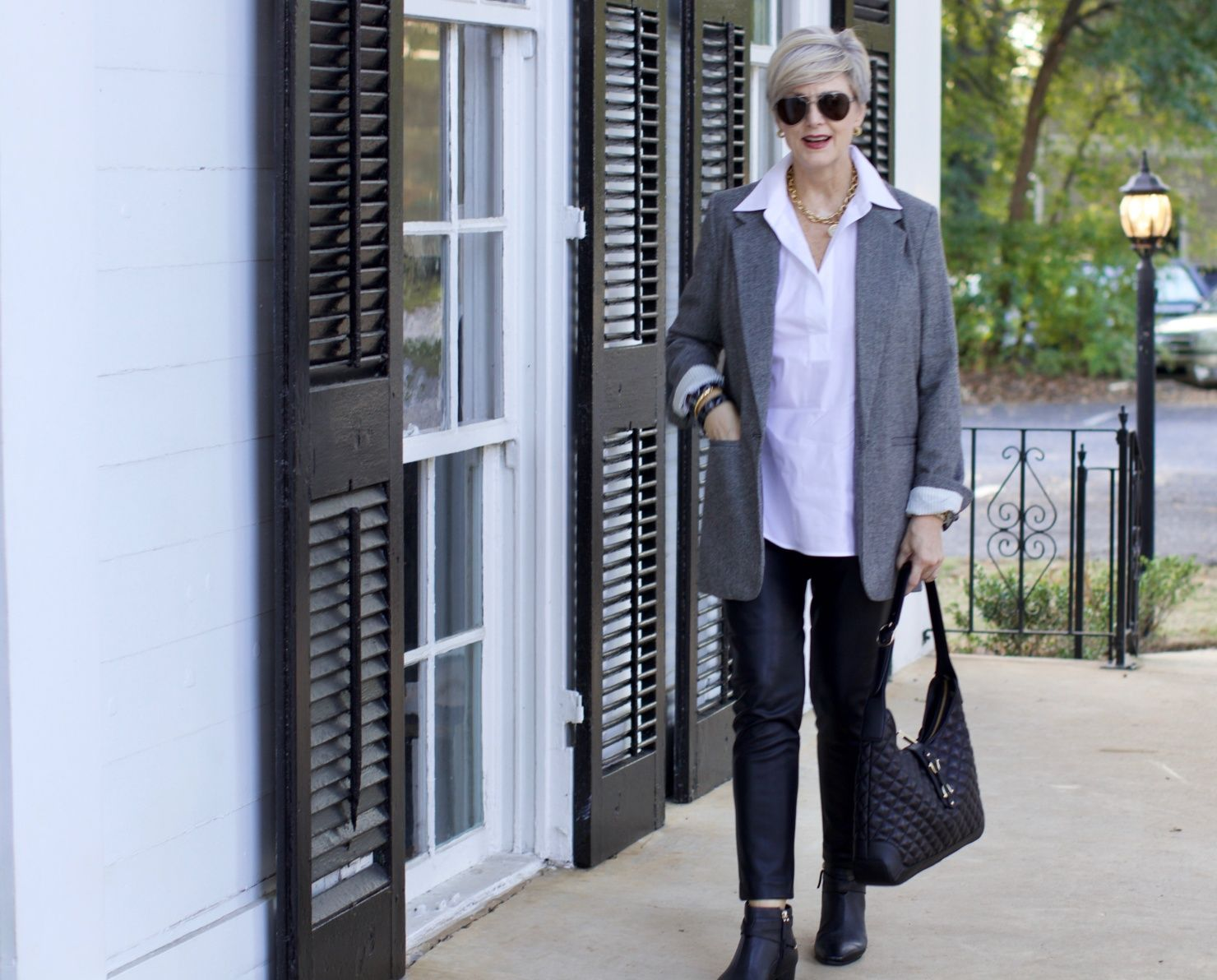 how to wear leggings   Style At A Certain Age