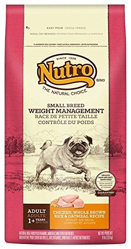 NUTRO Small Breed Weight Management Dry Dog Food  ChickenBrown Rice and Oatmeal 8 lbs -- Check out the image by visiting the link.