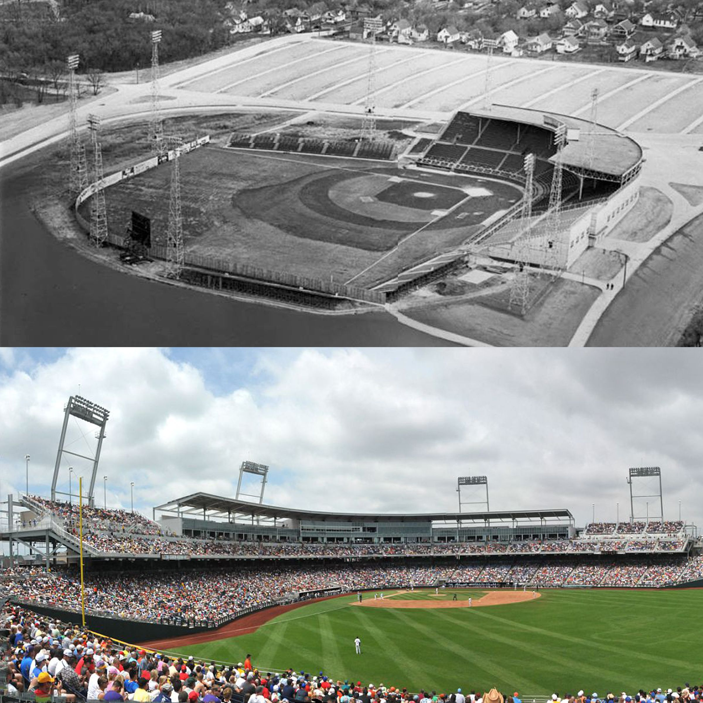 The Former Home Of The College World Series From 1950 To 2010 Johnny Rosenblatt Stadium And The Cur College World Series College Baseball Baseball Tournament