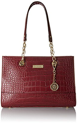 Anne Klein Coast IS Cleartote Tote Bag, Bordeaux, One Size ...