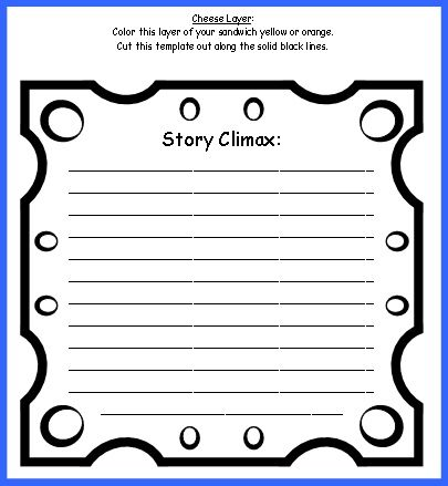 Sandwich Book Report Project templates, printable worksheets, and - resume book
