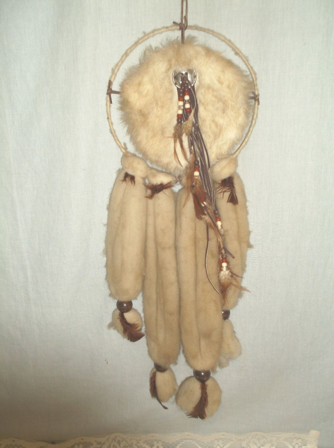 Cherokee Dream Catcher Entrancing Vintage 2Foot Long Hand Made Native American Cherokee Mandella Review