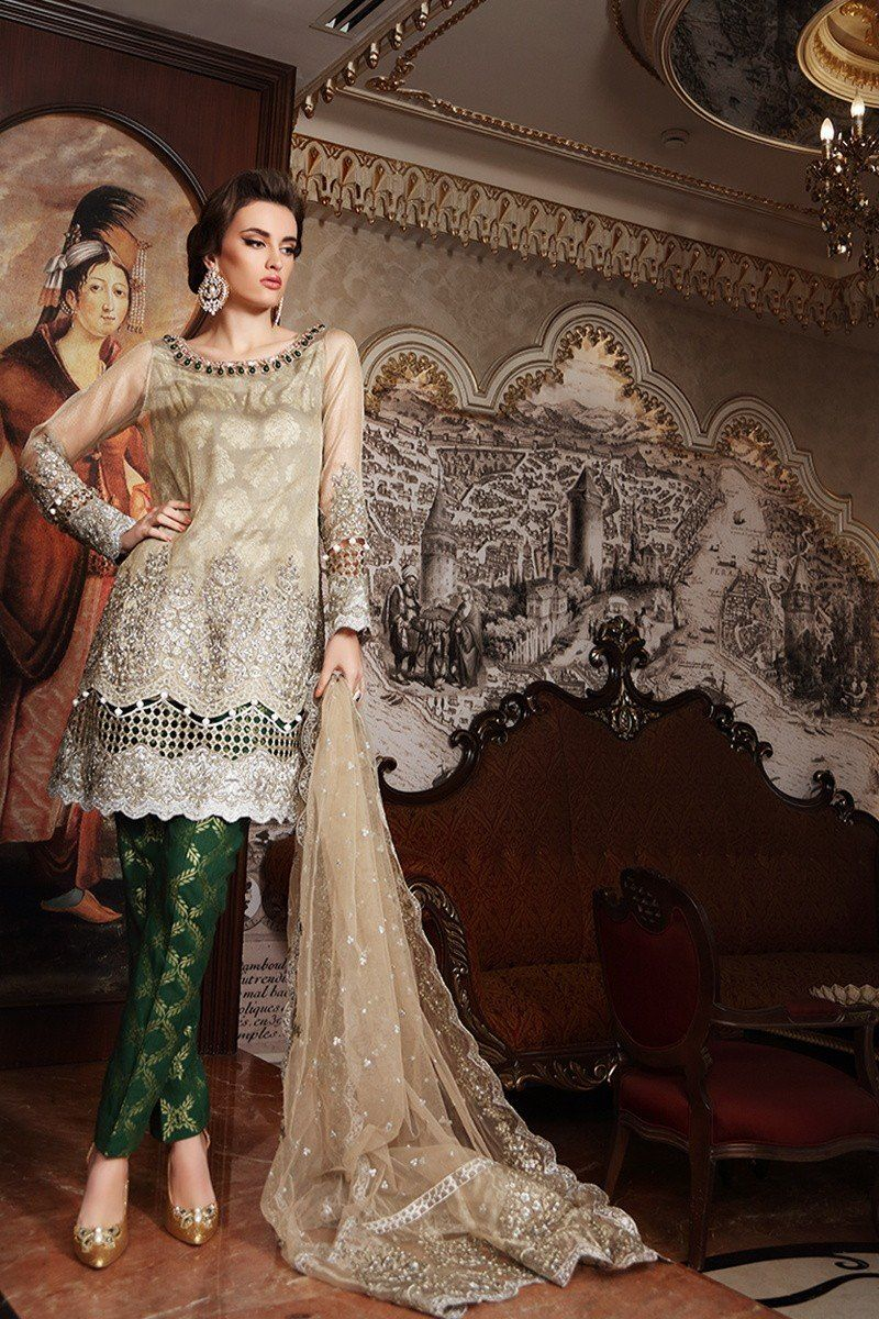 98e5ca6cfb Maria B BD-901 Gold Green Mbroidered Wedding Edition 2017 Price in Pakistan  famous brand online shopping, luxury embroidered suit now in buy online ...