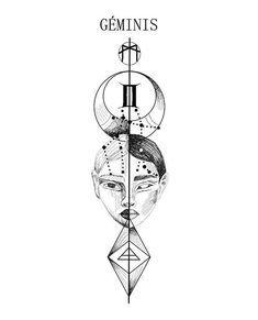 Zodiac design_GEMINI_._._DM_._#geminis #   Diseños