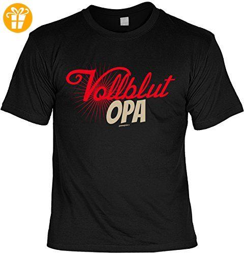 Opa Sprüche Tshirt - cooles für Großvater : Vollblut Opa -- Geschenk T-Shirt